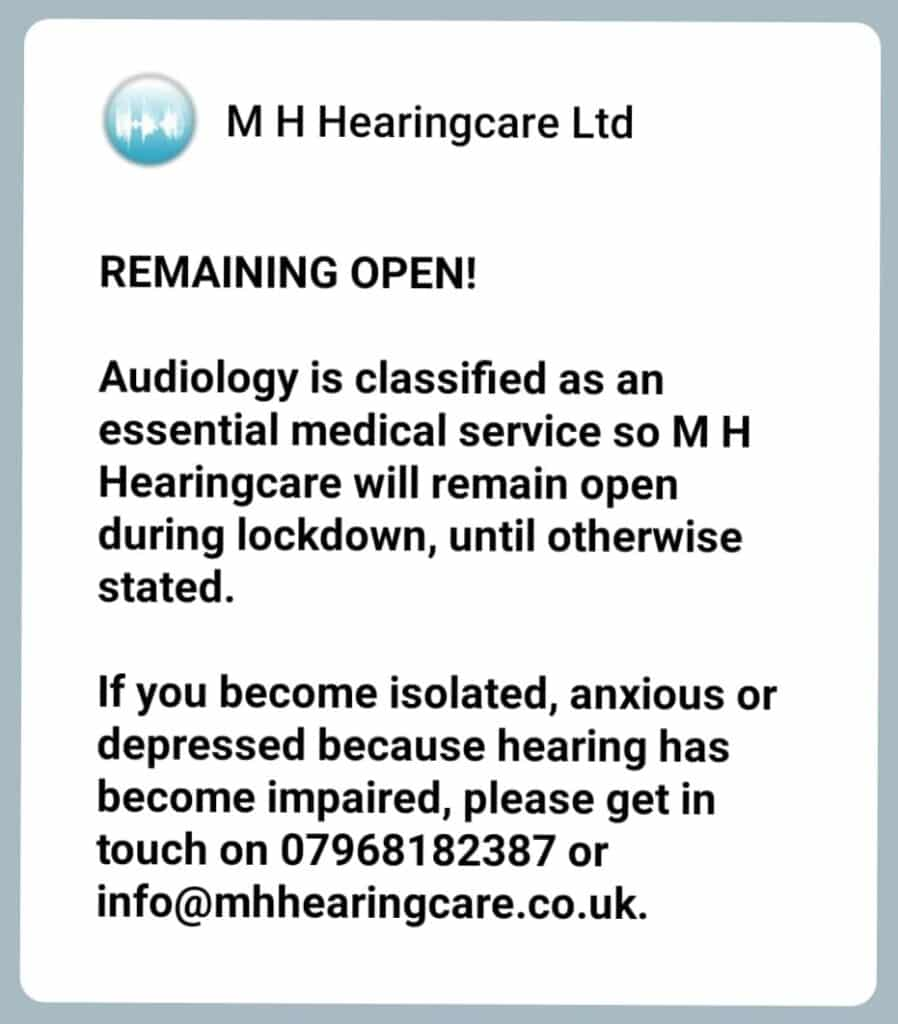 Remaining open notice